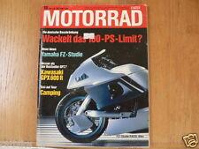 MOTORRAD 1987-16,KAWA GPX600R,RADD-YAMAHA MC2,SUZUKI GSX-R1100,SDR200,GUZZI