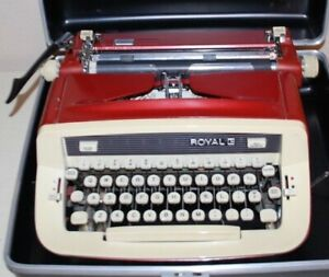 RED 1967 Royal II Typewriter w/case/original receipt! ONE OWNER. Sweet!