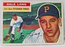1956 Topps #56A Dale Long Grey Back