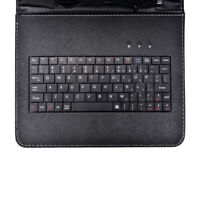 Universal 7 8 9 9.7 10 Inch PU Leather Stand Tablet Keyboard Case Cover Micro E&