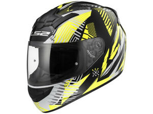 LS2 Integral Helmet FF352 Rookie Infinite Black Yellow Motorcycle From Hptt