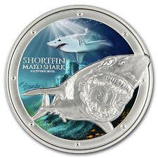 2016 Niue 1 oz Silver $2 Ocean Predators Mako Shark - SKU #93396