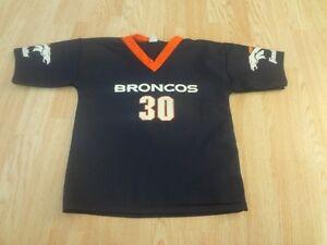 Youth Denver Broncos #30 Terrell Davis M Jersey Franklin Jersey