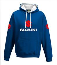 SUZUKI MOTORCYCLE - MOTORBIKE - BIKER - Blue HOODIE, TOP MENS CLOTHING