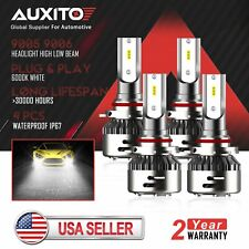 4x Waterproof 9005 9006 LED Headlight kit CSP Xenon HID White HiLow beam Bulb D2