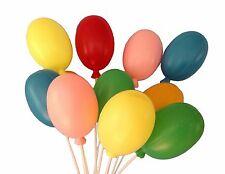 "24 Plastic Balloons Picks Birthday Decorations 7"" Long"