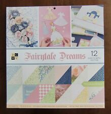 "DCWV FAIRNTALE DREAMS 36 Double-sided Printed Sheets of 12"" x 12"" Scrapbook"