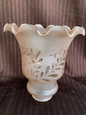 *****  VINTAGE ART DECO FRENCH VIANNE  GLASS TORCHIERE LAMP SHADE # 2 *****