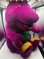 Jumbo Barney And Friends The Purple Dinosaur Lyons Plush Stuffed Toy Animal 1993