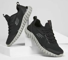 Skechers Black Shoes Men Memory Foam Sport Comfort Casual Walk Train Mesh 232013