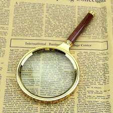 Portable 90mm Handheld 10X Magnifier Magnifying Glass Loupe Reading Jewelry New