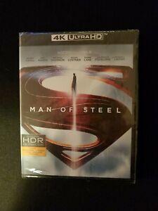 MAN OF STEEL, 4K ULTRA HD +BLU-RAY, NO DIGITAL, LOT D4.