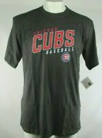 Chicago Cubs MLB Men's Screen Printed S/S T-Shirt Charcoal Big and Tall