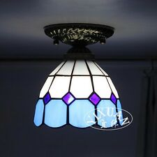 """Tiffany Style Flush Mount Stained Glass Single Ceiling Lamp Loft Light 6.2"""""""