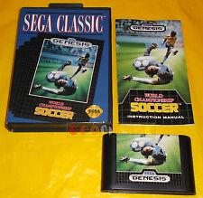 WORLD CHAMPIONSHIP SOCCER Sega Genesis Mega Drive Versione NTSC ○○○ COMPLETO
