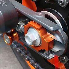KTM Duke 125 200 390 DUKE Rear Axle Spindle Chain Adjuster Block CNC ORANGE B14L