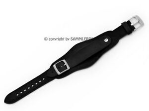 Aviator Band 18 20mm 22mm With Underlay Air Force Bund Style Leather Pilot Strap