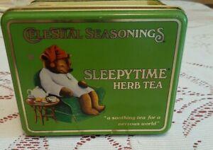 1982 Celestial Seasonings Tin w/ Lid - Sleepytime Herb Tea