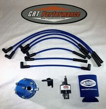 JEEP CHEROKEE 45K 4.0L IGNITION TUNE UP KIT XJ 1991-1993 BLUE CAP + BLUE WIRES