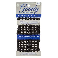 New Goody Ouchless Forever Elastic Hair Ties 10 Ct.