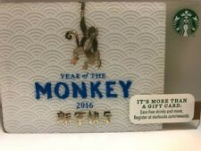 Starbucks 2016 Year of the Monkey, Chinese New Year, pin intact, no swipes, New