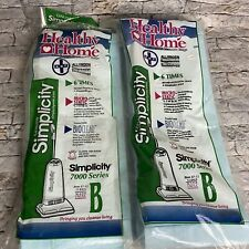 Genuine Simplicity Vacuum Bags Type B 7000 Series Allergen Suppression 18 Bags