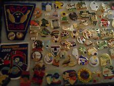 Vintage lot BOWLING lapel pins plus patches