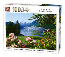 1000 Piece Travel Jigsaw Puzzle Cruise Boat Hardangerfjord Norway Ship 05715