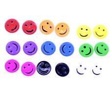 9 pairs cutout smiley face stud earrings