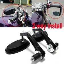 """BLACK 7/8"""" HANDLE BAR END MIRRORS FOR DUCATI MONSTER 620 696 796 821 1100 1200 S"""