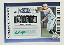 2019 Contenders Draft PRIZM COLLEGE TICKET GREEN AUTO ANDREW VAUGHN RC Rookie
