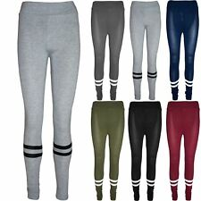 Women Skinny Fit Full Ankle Length Ladies High Waisted Contrast Stripes Leggings