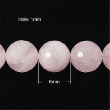5 Stränge Natürlichen Rosenquarz Perlen Handwerk Diy facettiert Runde Rosa 6mm