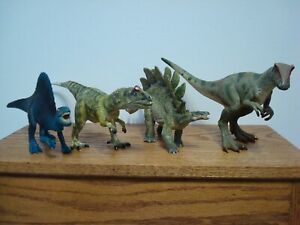 VINTAGE TOY DINOSAUR LOT - SCHLEICH, BULLYLAND AND PAPO 1993-2007