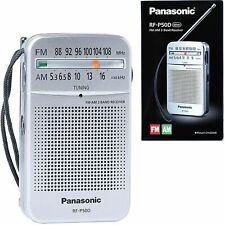 Panasonic RF-P50D Pocket AM/FM Silver Radio, 2 Band Receiver