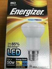 2 x LED Energizer 9.5W  R63 Bulbs  = 50W E27 600lm Soft Tone Warm White 2700K