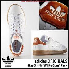 Adidas Originals Stan Smith White Orange Suede Heel GUM Brown Pack S80020 Sz 9.5