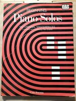 Beginning Piano Solos. Paul Sheftel. Vintage music book for pianists