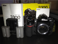 Nikon D300 12.3MP Digital SLR Camera - Black (Body, charger batteries)