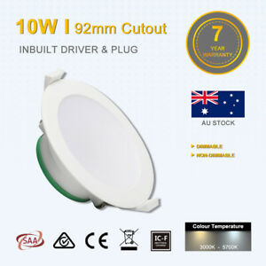 10W/16W Led Downlight Kit 92/120mm White NonDim warm white IP44 7 years warranty
