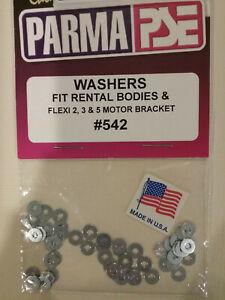 PARMA # 542 NEW Washers For Rental Bodies & Flexi 2, 3 & 5 Motor Brackets - 50