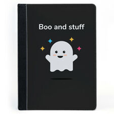 Cute Ghost Boo and stuff Horror Tablet Leather Case Cover
