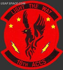 USAF 16th AIRBORNE COMMAND AND CONTROL SQUADRON - LIGHT THE WAY- ORIGINAL PATCH