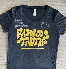 Ring Worn & Signed / Autographed Carmella Fabulous Truth Shirt - WWE Rare