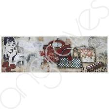 Audrey HEPBURN Borse francese ispirato a Muro ARTE Immagine FASHION LADY