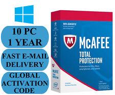 McAfee Total Protection 10 PC 1 Jahr weltweite Schlüssel 2018 Email nur ohne CD!!!