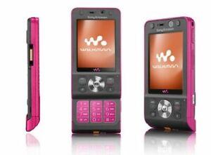 PINK SONY ERICSSON W910i 3G SLIDE MOBILE FONE-UNLOCKED WITH NEW CHARGAR&WARRANTY