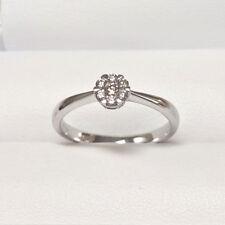 Diamantring 0,15 ct 750er Weissgold Ringgröße 54 Verlobungsring 18 Karat