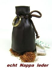 traditioneller Nappa Echtleder Tabakbeutel tabaktasche Etui neu 30gr -Braun