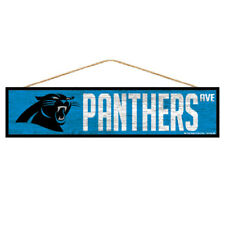 Carolina Panthers Wooden Sign Door 16 7/8In, Nfl Football, Fan Cave Wood